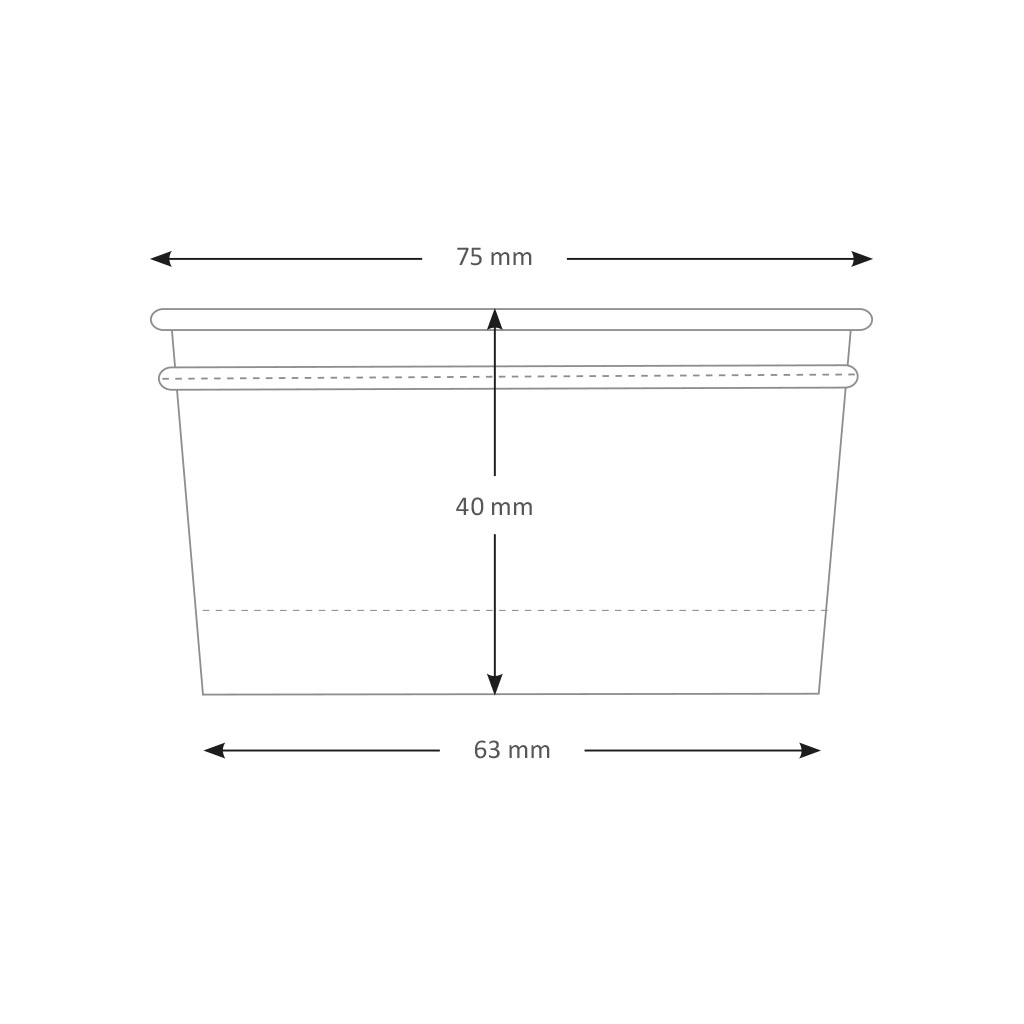 Ice Cream Tubs 107ml White x 2000