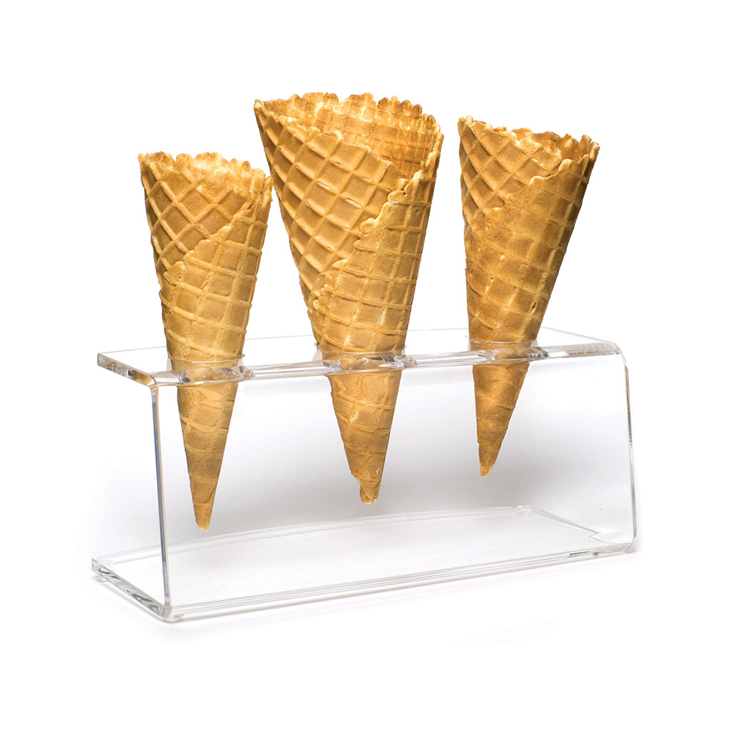 Ice Cream 3 Hole Cone Stand Plexiglass(5mm) x 1
