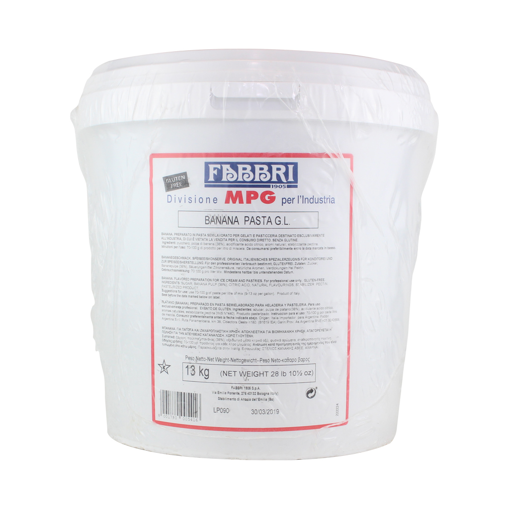 Banana Paste Industrial Bucket 17W  x 13kg