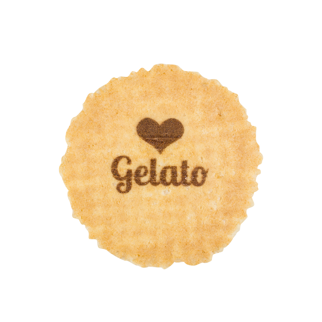 Love Gelato design Wafer discs 1 x 1000